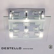 Destello 6 Light Flush Fitting in Polished Chrome and Crystal - DIYAS IL30982